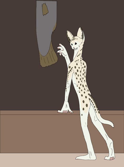 Serval to anthro TF by PickleJuice