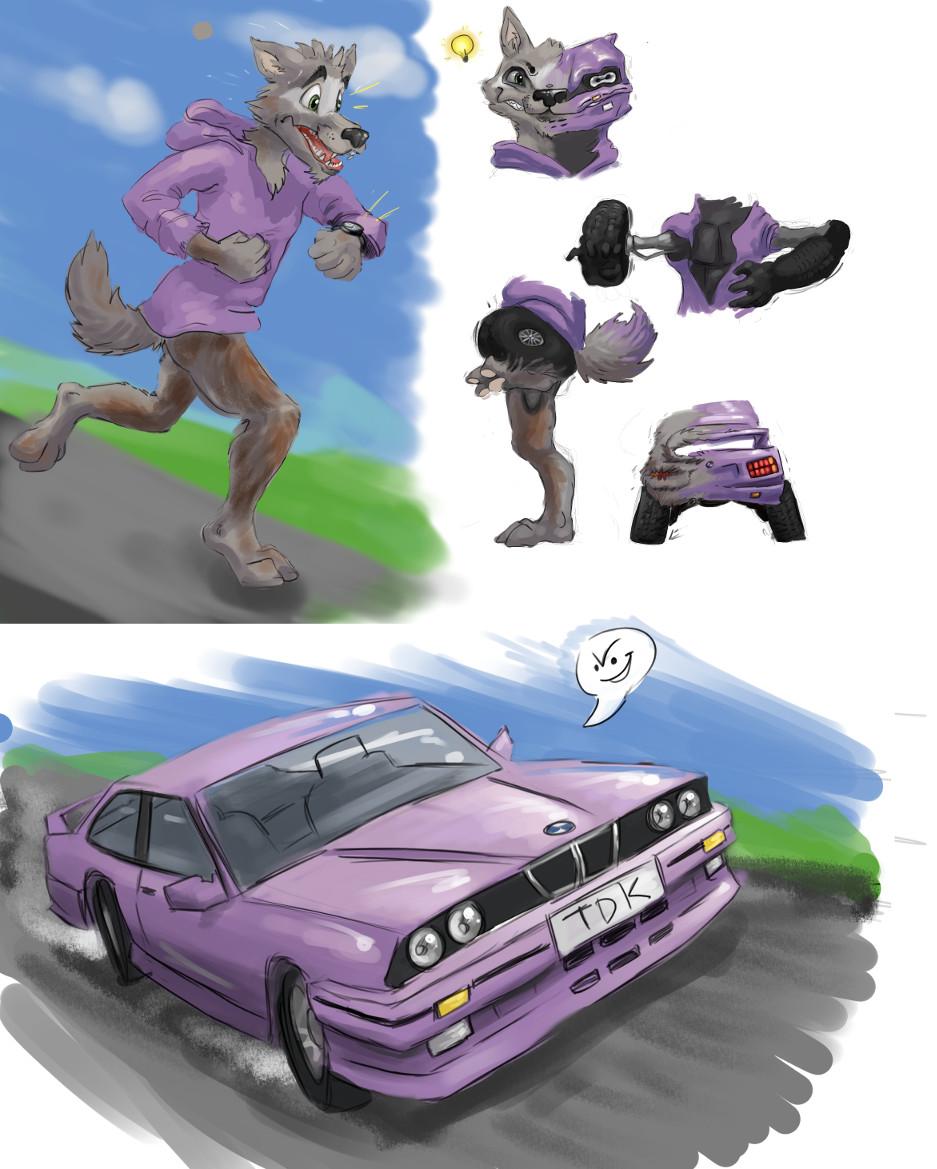 Tardy Tdk Transforms Dog To Car Tf Comic By Ametf Transfur
