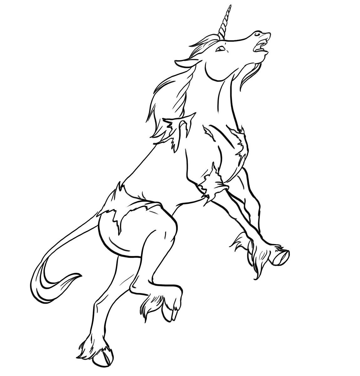 Livestream Commission: Human -> Unicorn by Jakkal - Transfur