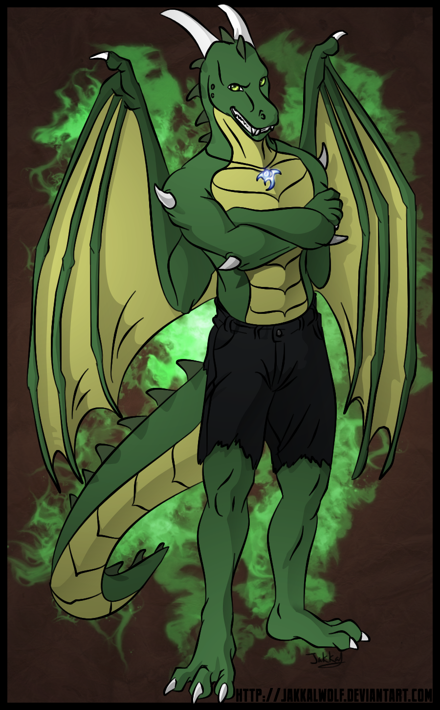 Human -> Dragon TF by Jakkal - Transfur