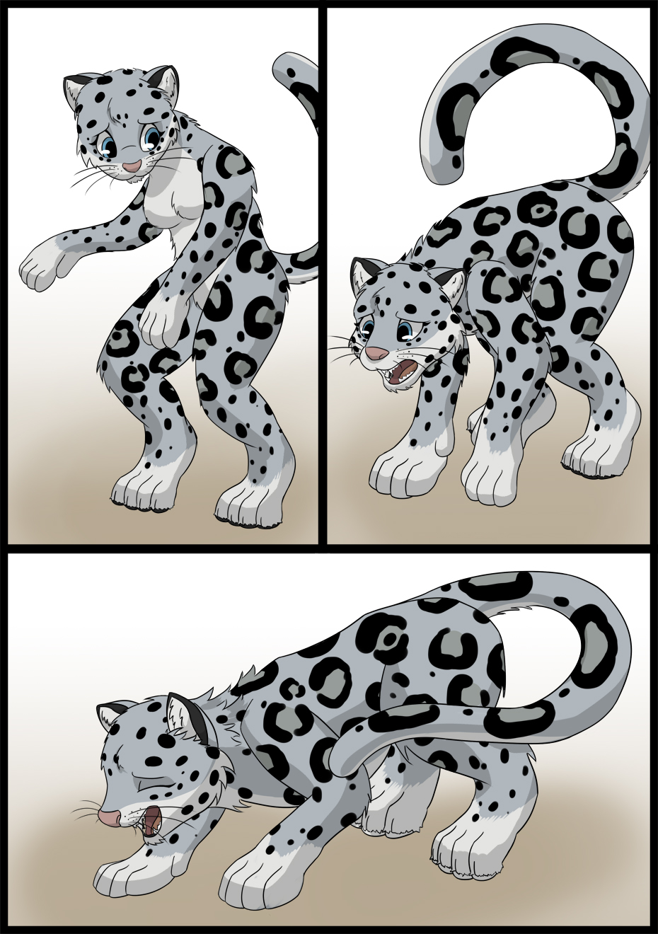 Anthro snow leopard male - photo#21