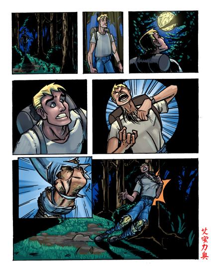 Wolf Transformation Sequence Cartoon Werewol...