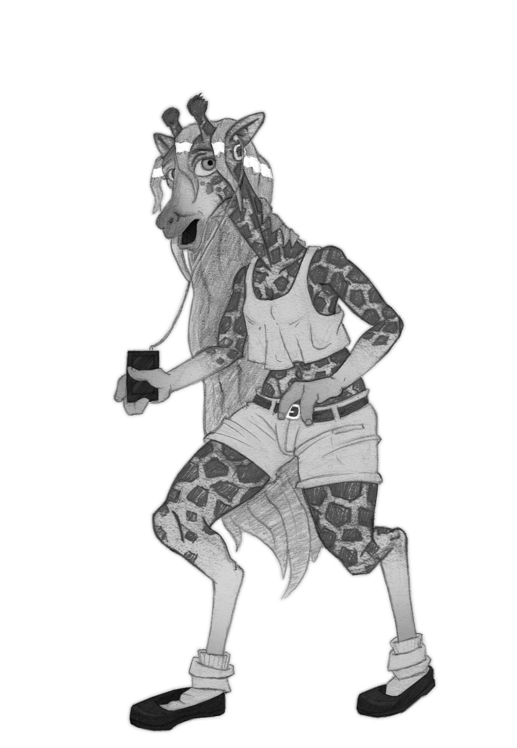 Patreon Sneak Peak - Giraffe by tfancred