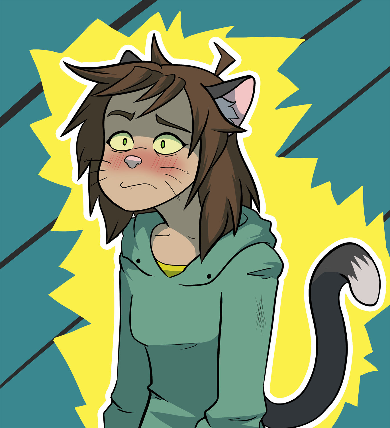Stress cat by frankenJade