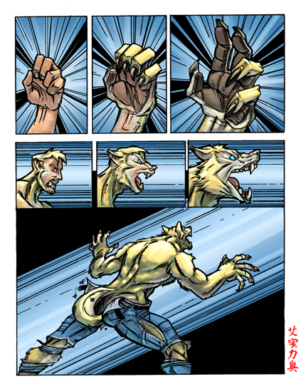 Wolf Transformation Sequence WOLF-TF-COMIC- ...